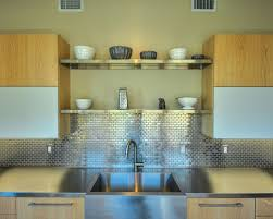 Metallic Tile Backsplash by Stainless Steel Tile Backsplash Houzz