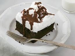 mocha cake with fluffy meringue topping recipe myrecipes