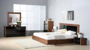 Black Lacquer Bedroom Furniture Stark Walnut Bedroom Set With Black Lacquer Accents New York City