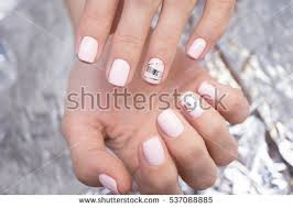 beautiful natural nails hand ideal clean stock photo 566485630
