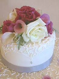 elegant flowers small wedding cake 25th anniversary pinterest