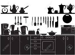Kitchen Chef Table by Vector Illustration Of Kitchen Tools For Cooking Royalty Free