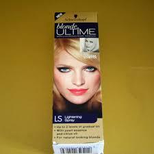 lightened front hair tested thursday schwarzkopf blonde ultime lightening spray