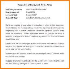 11 sample of notice cna resumed