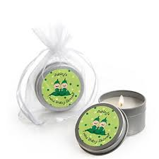 two peas in a pod baby shower two peas in a pod personalized baby shower candle tin