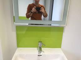 bathroom splashback ideas 30 best glass splashbacks for bathrooms images on glass