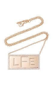 Gold Name Plate Necklace Custom 18k Rose Gold Name Plate Necklace By Stefanie Moda Operandi