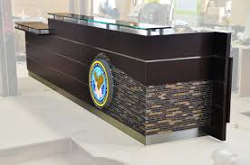 Acrylic Reception Desk Arnold Reception Desks Inc Custom Anglo Irish Bank New York