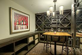 Wine Cellar Chandelier Wine Credenza Wine Cellar Transitional With Built In Shelves