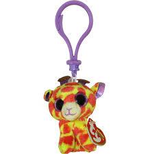ty beanie boos darci giraffe glitter eyes plastic key