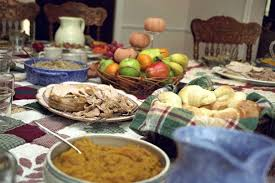 a thanksgiving dinner table without agriculture