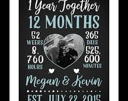 1 year anniversary ideas for him one year anniversary etsy