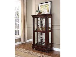 cherry curio cabinets cheap carrie cherry curio cabinet with 4 sides doors shop for affordable