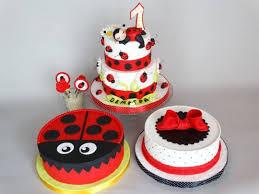 ladybug birthday cake four ladybug cakes for 1st birthday cake by diana cakesdecor