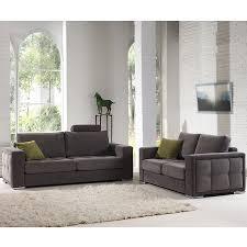 canap 3 2 places tissu salon canapé 3 2 places gris tissu sofamobili