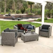 best christopher knight home puerta grey outdoor wicker sofa set