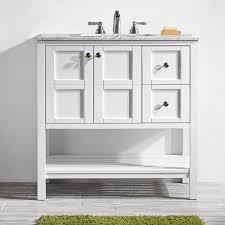 White 36 Bathroom Vanity Caldwell 36 Single Bathroom Vanity Set Reviews Birch