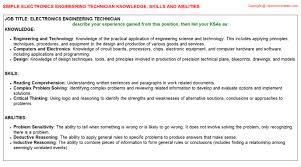 environmental engineering technician federal resume ksa