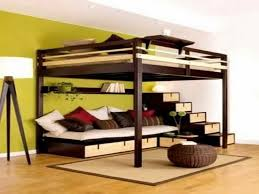 Bunk Bed With Futon On Bottom Wonderful Bunk Bed Sofa Bedroom Bunkofa Cost Beds With Desk And
