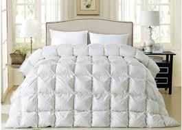Winter Duvet King Size Goose Down Comforter White Pink Satin Winter Comforters Quit Doona