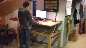 do it yourself standing desk demo 1 diy liftable stand up rising desk table asketic