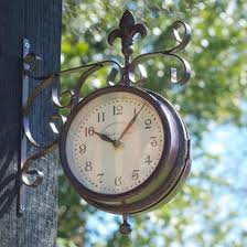 Outdoor Pedestal Clock Thermometer Garden Clocks U2014 The Worm That Turned Revitalising Your Outdoor Space