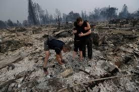 California Wildfires Burn Cars by Glen Ellen California Northern California Wildfires Pictures