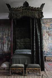 gothic canopy beds with black gothic curtain
