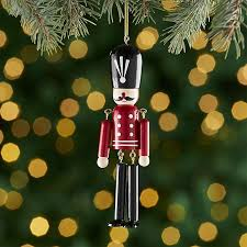 wooden soldier ornament with dangle legs crate and barrel