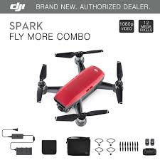 dji spark fly more combo lava red quadcopter drone 12mp 1080p