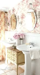 Antique Bathroom Mirror by White Vintage Bathroom Design With Large Crystal Chandelier And