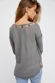 rainbow blouse free clothing rainbow thermal henley top for in grey