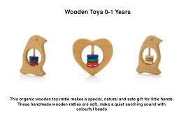 wooden toy rattles for 0 1 yr babies