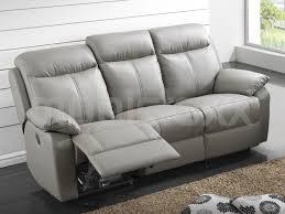 canap relax gris canapé relax électrique 3 places cuir gris chez mobistoxx