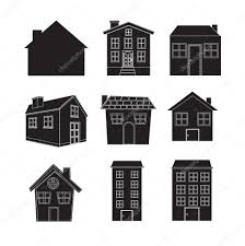 silhouettes of houses u2014 stock vector yupiramos 13841565