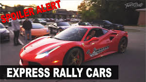 spoiler alert express rally cars ferrari 488 lamborghini and more