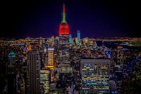 empire state building lights tonight new york at night empire state building 3 in nyc photo a day