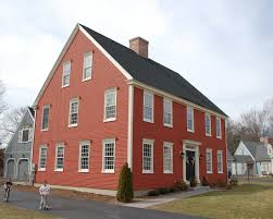 red painted wall classic colonial homes exterior design home