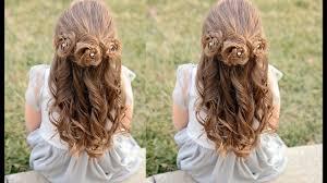 flowergirl hair flower girl hairstyles braided flower buns