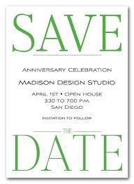 save the date invites bold green business save the date cards corporate save the date