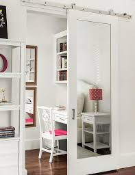 Mirror Sliding Closet Doors For Bedrooms Barn Door Bedroom Mirrored Sliding Closet Barn Door Bedroom