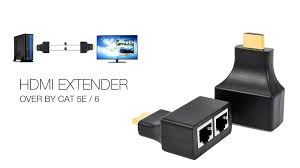 30m hdmi to dual rj45 port network cable extender youtube