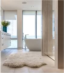 Rug In Bathroom Sheepskin Rug In Bathroom Toilette Pinterest Bath House And