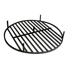 Fire Pit Ring With Grill by Round Fire Pit Grate 36 U0027 U0027 Heavy Duty Grill Cooking Campfire Camp