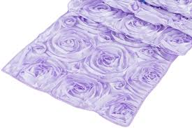 pink rosette table runner wedding rosette satin table runner lavender at cv linens cv linens