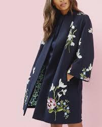 spring meadows kimono jacket dark blue jackets coats ted