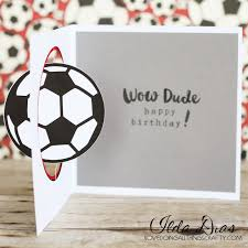 i love doing all things crafty soccer ball spinner card