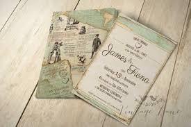 vintage style wedding invitations wedding invitations