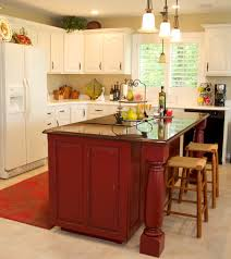 awesome red distressed kitchen cabinets taste