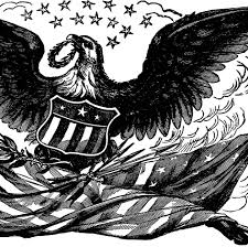 Eagles Flag Vintage Bald Eagle With Flag Image The Graphics Fairy
